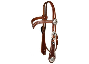Beaded, Painted & Rawhide Headstall