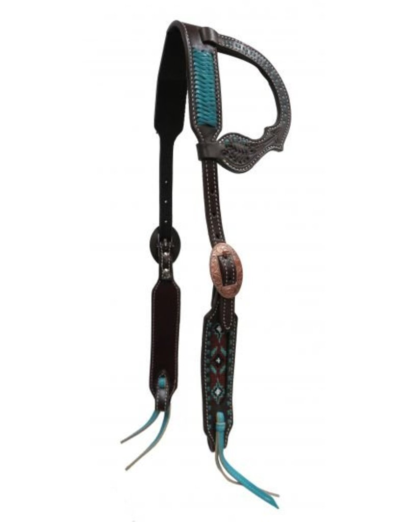 Showman ® Showman ® Argentina cow leather single ear headstall.