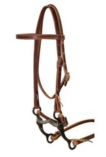 Showman ® Showman™ Leather pony size bridle with reins and pony size grazing bit.