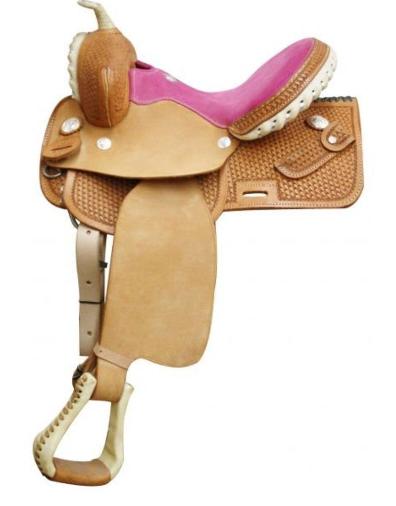 Circle S Square Skirted Barrel Style Saddle.