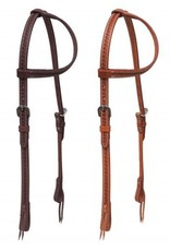 Showman ® Showman ® Argentina cow leather one ear headstall with stainless steel hardware.