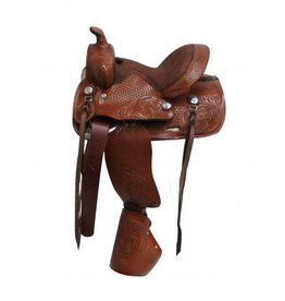 "Double T 10""   pony saddle with tapedero stirrups."