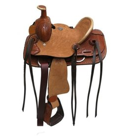 "Double T 10""   Youth hard seat roper style saddle."