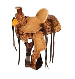 """Double T 10""""  Pony hard seat roper style saddle."""