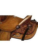 Double T hard seat roper style saddle.