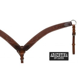 Showman ® Showman ® Argentina cow leather tooled breast collar.