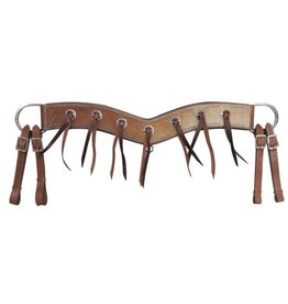 Showman ® Showman ® Hair-on cowhide tripping collar.