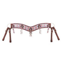 "Showman ® Showman ® 4"" wide multi colored Navajo diamond print tripping collar."