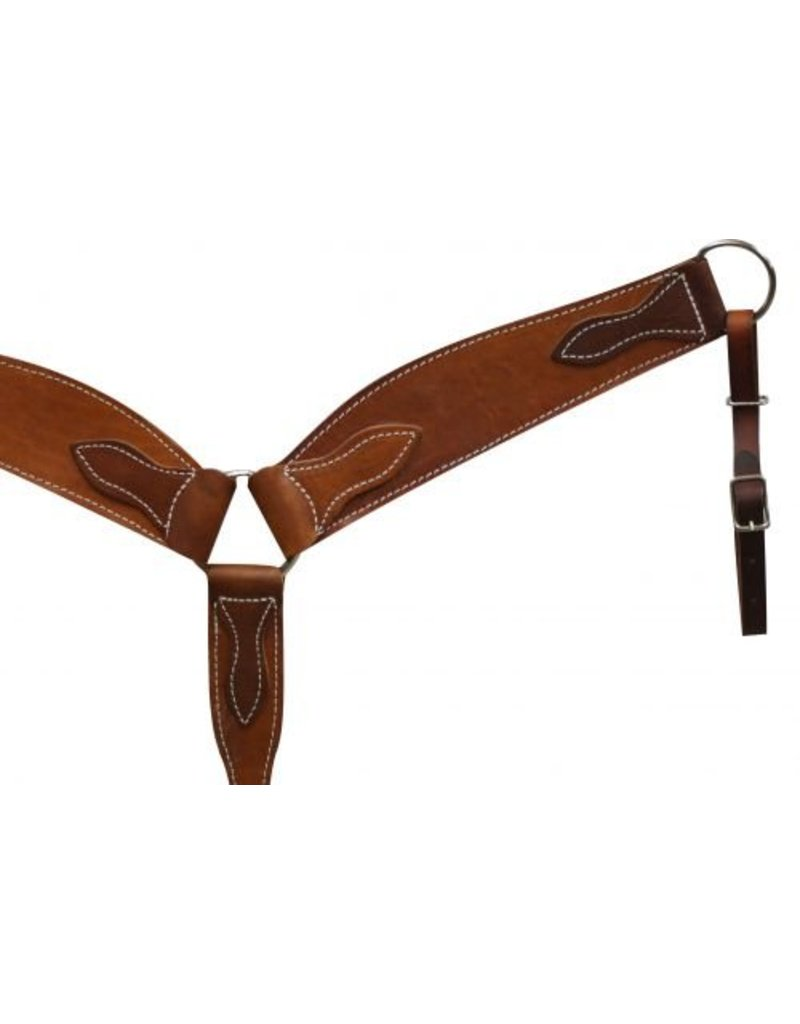 "Showman ® Heavy duty breastcollar is 3.5"" wide wide 1"" tugs and tie down. Made in USA."