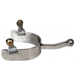 Showman ® stainless steel ball end equitation spurs.
