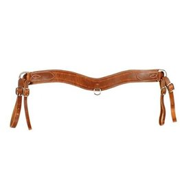 Harness Leather Tripping Collar with barbwire tooling