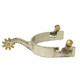 Showman ® Men's stainless steel spurs with brass rowel.