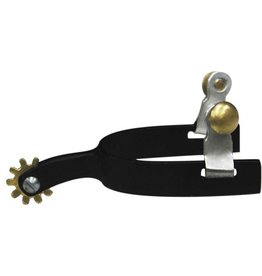 Showman ® Youth Size Roper Style Black Steel Spur.