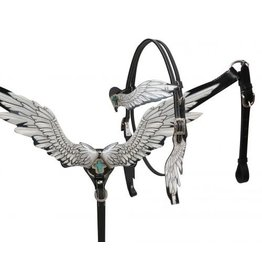 Showman ® Showman ® Angel wing headstall and breast collar set