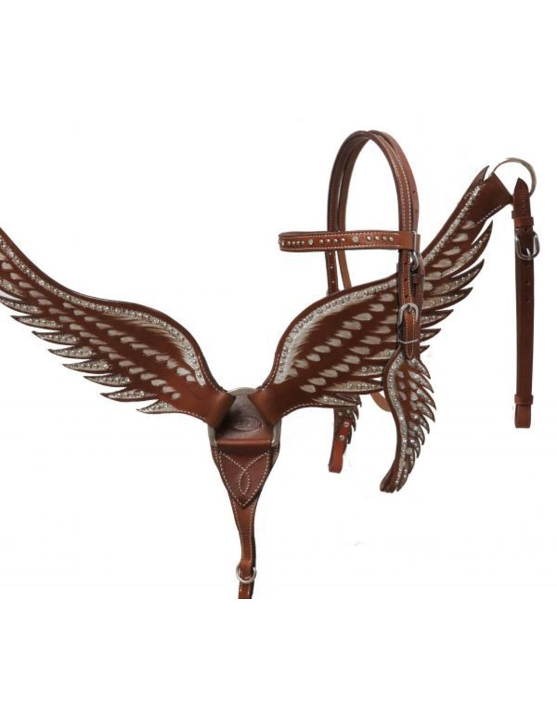 Showman ®    Showman ® Angel wing headstall and breast collar set.