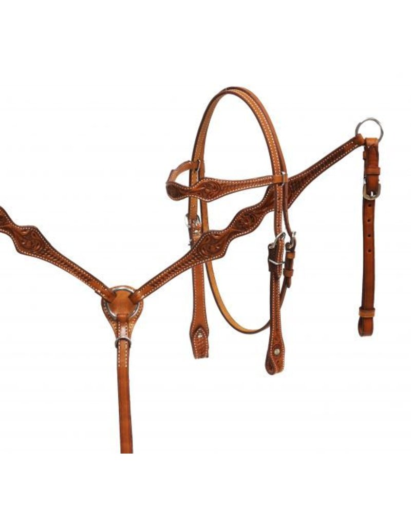 Showman ® Showman ® Argentina cow leather headstall and breast collar set.