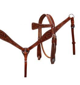Showman ® Showman® Argentina cow leather headstall and breast collar set.