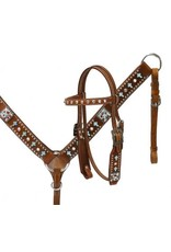 Showman ® Showman ® Pony  Cross beaded headstall and breast collar set.