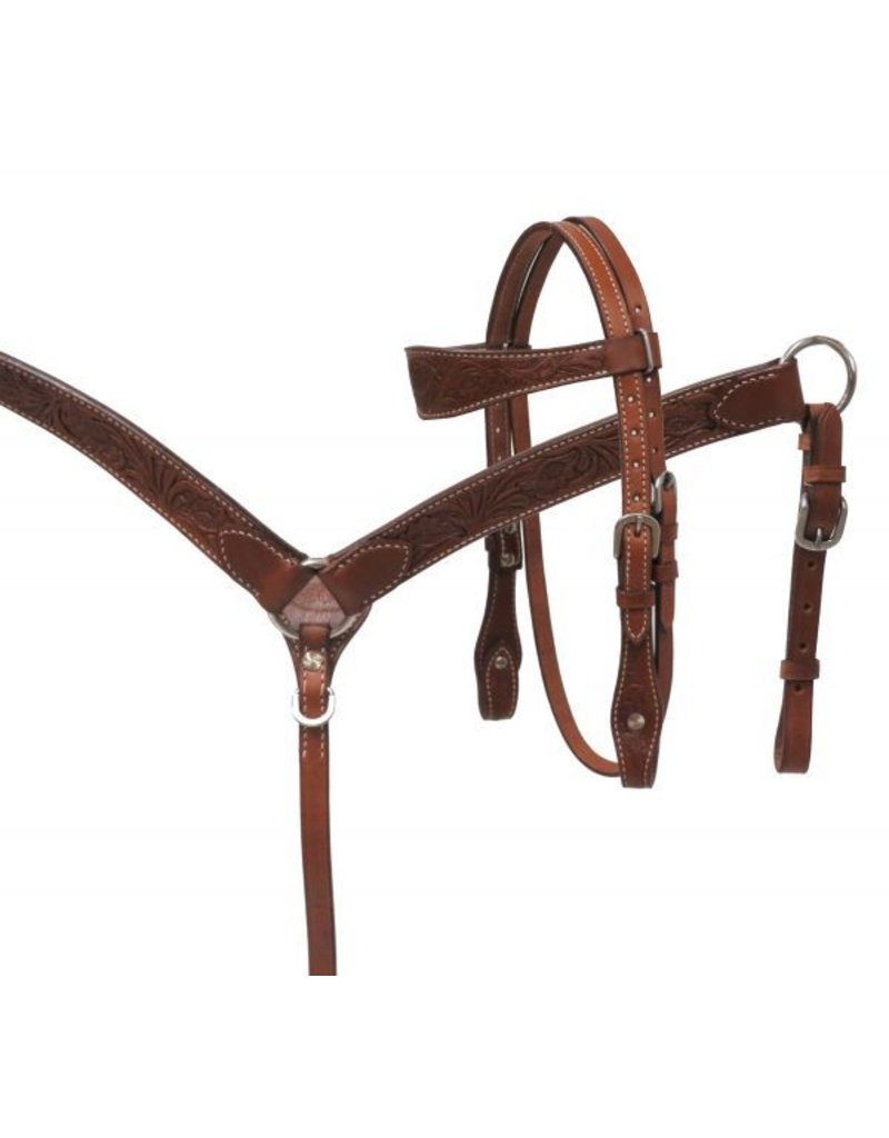 Showman ®  Showman ® MINI floral tooled headstall and breast collar set