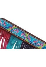 "Showman ® Showman ® PONY SIZE  "" Rainbow Pony"" headstall and breast collar set."