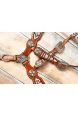 Showman ® Showman ® Pony size beaded navajo print headstall and breast collar set.