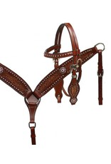 Showman ® Showman ® Pony size floral tooled headstall and breast collar set.