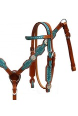 Showman ® Showman ® Pony size filigree overlay headstall and breast collar set.