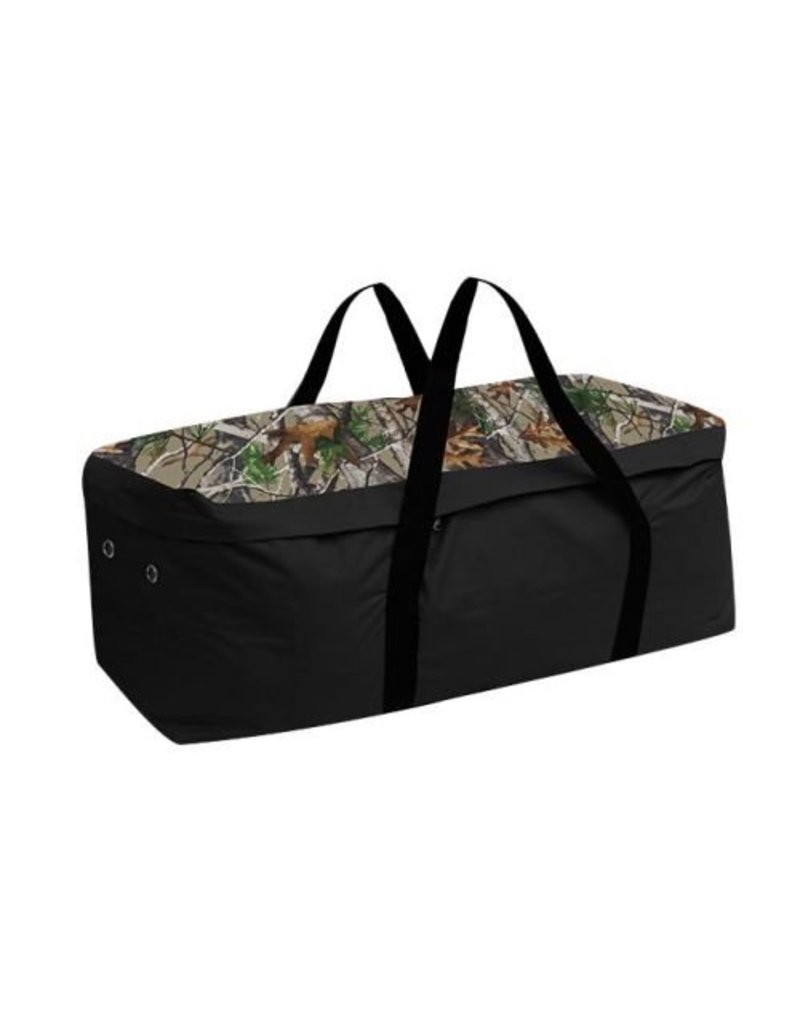 Showman ® Showman ® Hay Bale Carrier. Made of water resistant nylon materials, this carrier is perfect for hauling an average size hay bale in the truck or trailer.