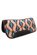 "Showman ®  Showman ® 31"" x 32"" Felt bottom Navajo saddle pad with built up sides."
