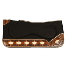 "Showman ® Showman ® 31"" x 32"" x 1"" Contoured felt saddle pad with built up center"