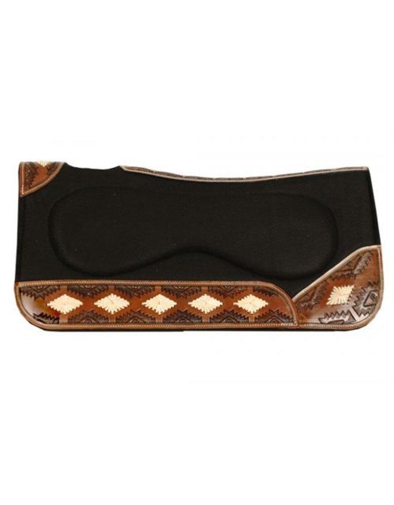 "Showman ® Showman ® 31"" x 32"" x 1"" Contoured felt saddle pad with built up center"