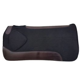 Showman ® Showman ® 31 x 31 x 1 Black felt saddle pad with built up shoulder.