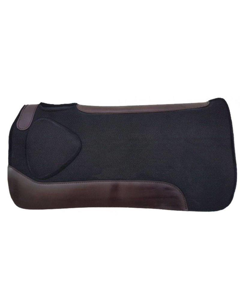 Showman ® Showman ® 31 x 31 x 1 Black felt saddle pad with built up shoulder.