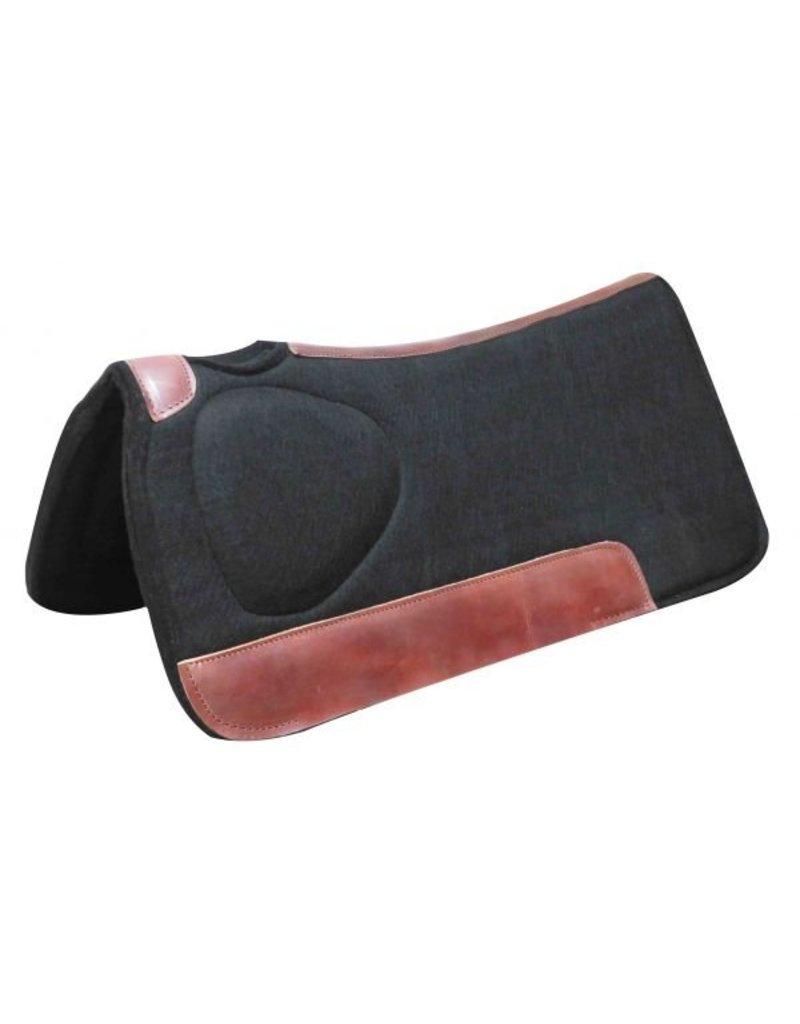 """Showman ®   Showman® 31"""" x 31""""x 1"""" Black felt saddle pad with built up shoulder."""