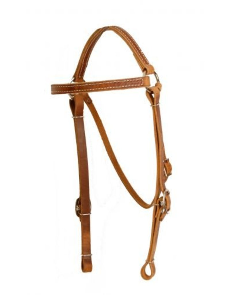 Showman ® Showman ® Perfect fit harness leather headstall. This headstall features double buckle cheeks to provide fit for a large variety of of horses.