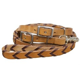 Showman ® Showman ® 8ft Argentina cow leather braided rein.
