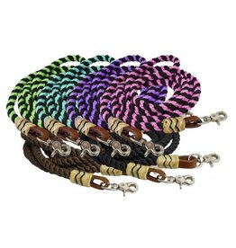 Showman ® Showman ® 8FT rolled nylon barrel reins.