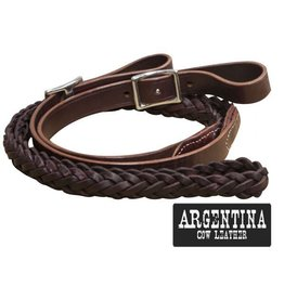 Showman ® Showman ® 7.5 ft Argentina cow leather contest reins.