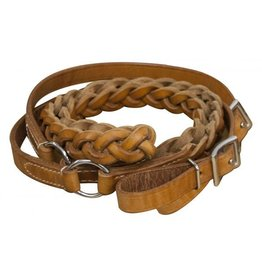 Showman ® Showman ® 7ft Agentina cow leather contest reins.