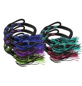 Showman ® Showman ® 8ft Fringe braided barrel reins. T