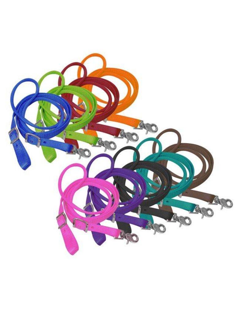 """Showman ®   Showman ® 3/4"""" x 8ft nylon contest rein with scissor snap end."""
