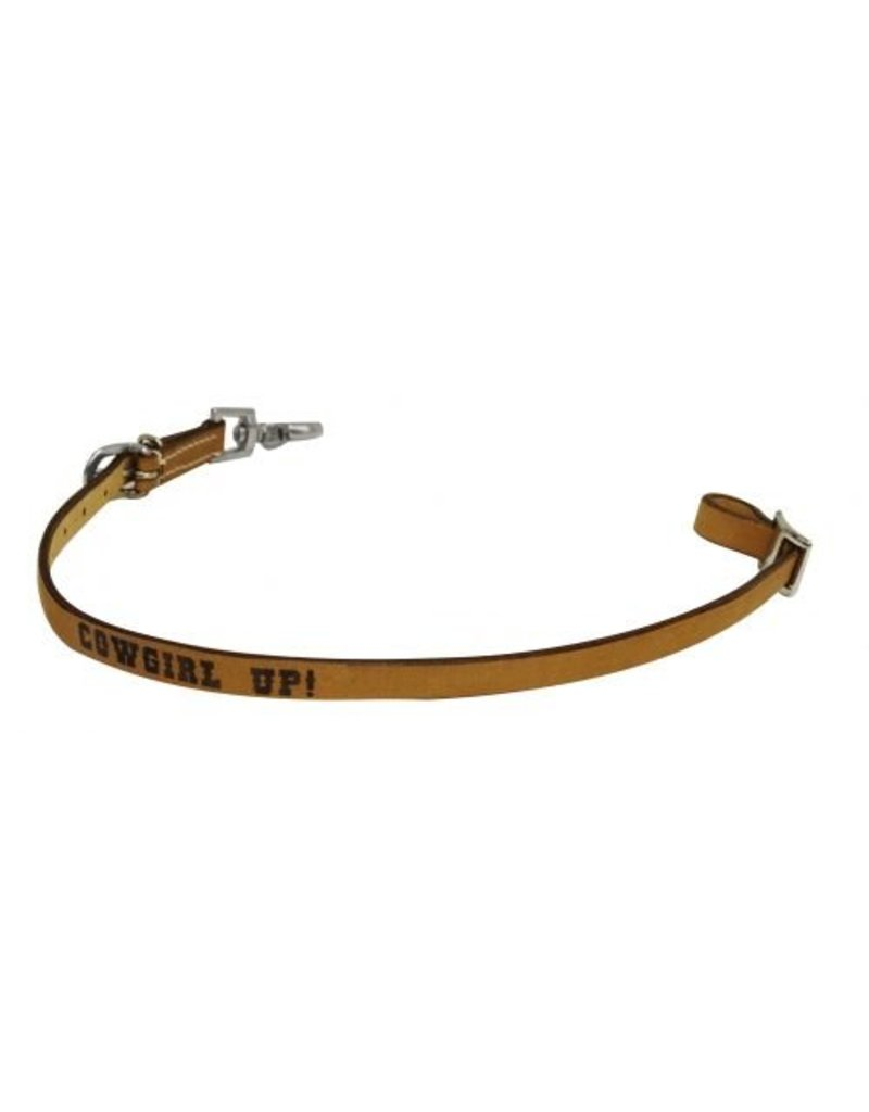 Showman ® Showman ® Cowgirl Up branded wither strap.