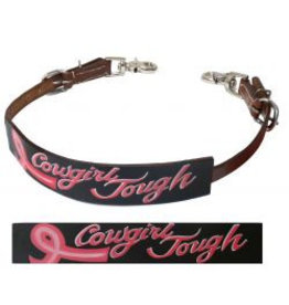 "Showman ® Showman ® Cut-out, hand painted "" Cowgirl Tough"" wither strap."