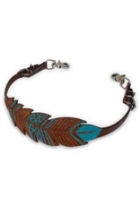 Showman ®  Showman ® Cut-out, hand painted feather wither strap.