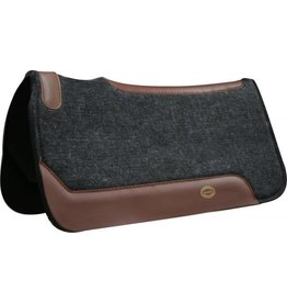 "Showman ® Showman™ 31"" x 32"" Black felt saddle pad with smooth neoprene back"