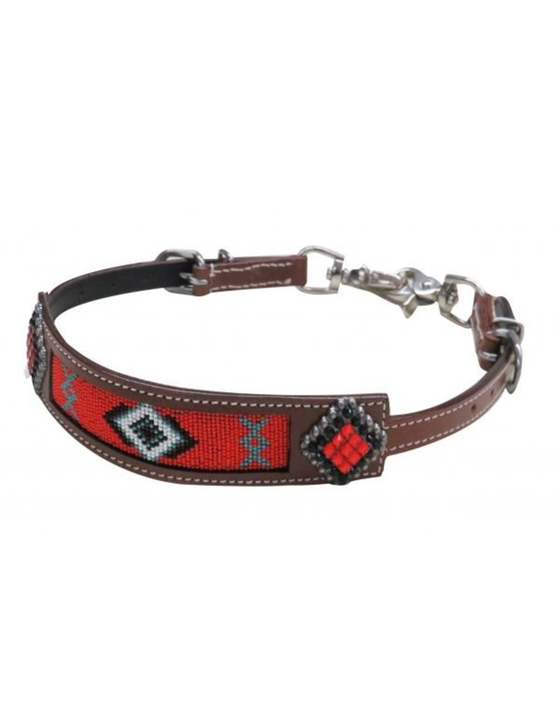 Showman ® Showman® Beaded Navajo wither strap with crystal rhinestone conchos.