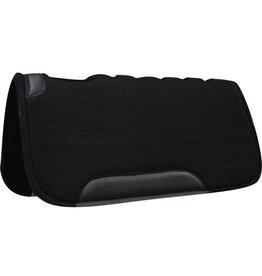 "Showman ® Showman™ 31"" x 31"" Black felt pad on top and bottom, cut out over wither, fully vented back and wear leathers, approximately 1"" thick. Made by Showman™ Products."