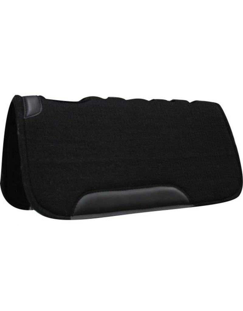 """Showman ® Showman™ 31"""" x 31"""" Black felt pad on top and bottom, cut out over wither, fully vented back and wear leathers, approximately 1"""" thick. Made by Showman™ Products."""