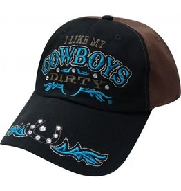""" I Like My Cowboys Dirty"" baseball hat."