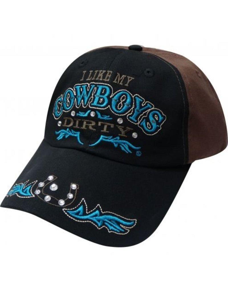 """ I Like My Cowboys Dirty"" baseball hat."